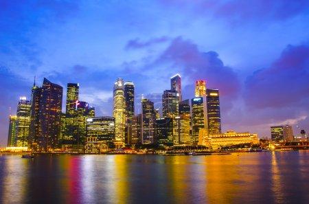 Beautiful Singapore skyline at night