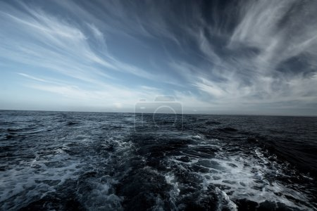 Photo for Stormy weather in ocean - Royalty Free Image
