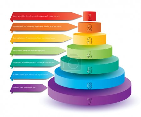 Colorful pyramid elements for presentation