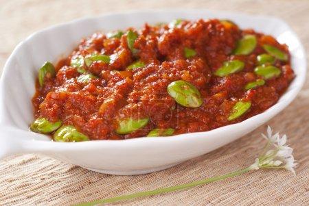 Stink Beans in Pungent Spicy Gravy...
