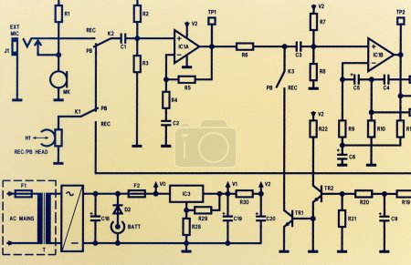 Photo for Image of an electronic schematic diagram. - Royalty Free Image