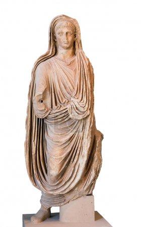 Photo pour Statue de l'empereur romain Tibère (règne 14-37 après JC), isolée - image libre de droit