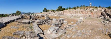 Panorama of Telesterion, ancient Eleusis, Attica, Greece