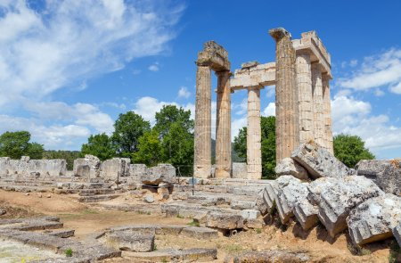 Temple of Zeus in ancient Nemea, Peloponnese, Greece