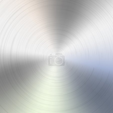 Illustration for Circular brushed metal texture - Royalty Free Image