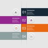 Moderní design šablony, lze použít pro infografika