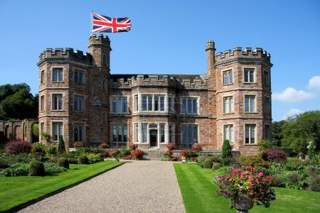 traditional english castle, Mount Edgcumbe, Plymouth, Uk
