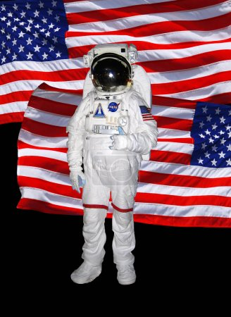 Astronaut with american flag
