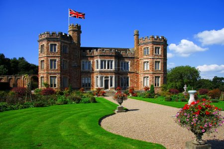 Eenglish castle, Mount Edgcumbe, Plymouth, Uk
