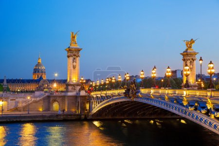 Bridge of Alexander III in Paris in France