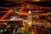 Noční pohled z Burdž Chalífa v Dubaji, Spojené arabské emiráty