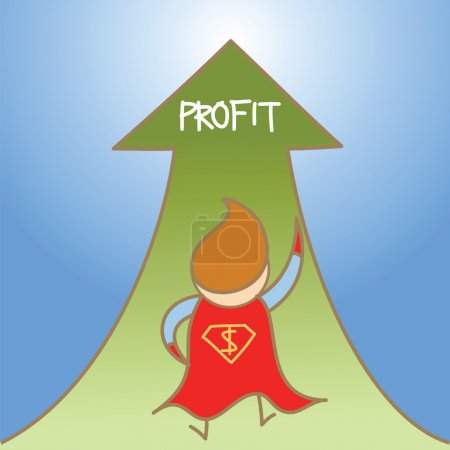 Super man get profit up