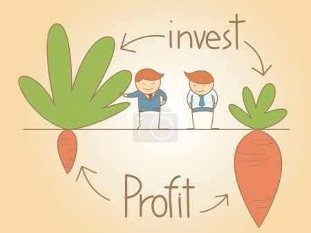 Business man talk invest and profit