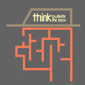 Business concept think outside the box maze