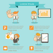 Business man infographic presentation