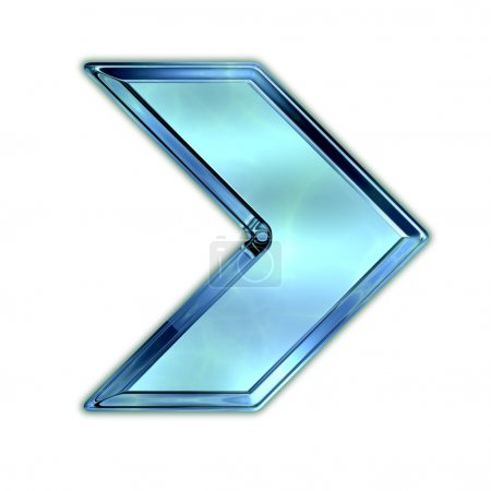 Photo for Arrow. Glass shape. - Royalty Free Image