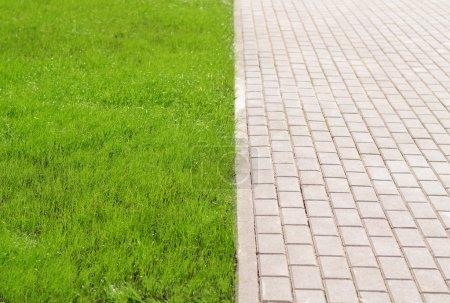 Stonepath y hierba