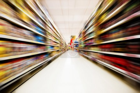 Photo for Move motion in supermarket - Royalty Free Image
