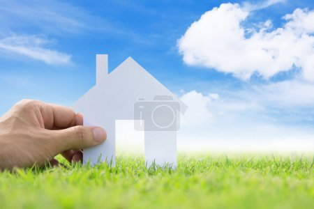 Photo for Hand Holding Icon House ,my dream house concept - Royalty Free Image