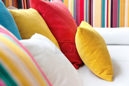 Colorful Cushion In Sofa