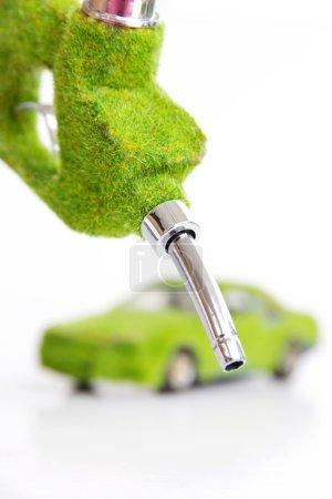 Foto de Inyector de combustible ecológico, concepto de la energía - Imagen libre de derechos