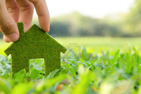 Photo for Eco house icon concept - Royalty Free Image