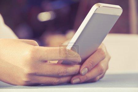 Woman Using a Smart Phone