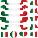 Set of Italian ribbons, vector illustration...