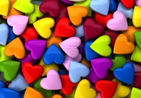 Photo for Colorful heart candy background (computer generated image) - Royalty Free Image
