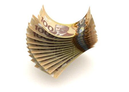 Photo pour Monnaie canadienne (isolée avec trajectoire de coupure ) - image libre de droit