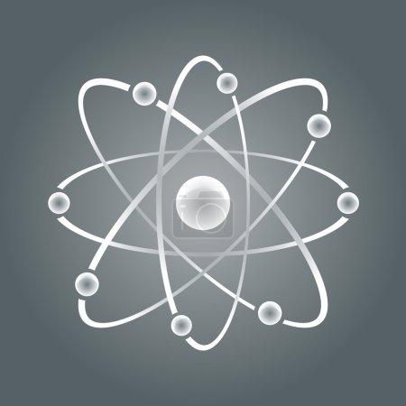 Atom part on white bakground.