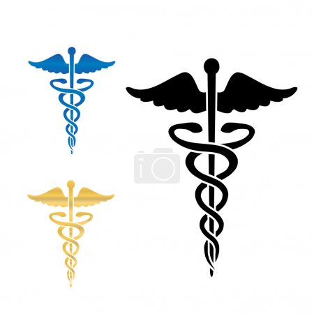 Illustration for Caduceus medical symbol vector illustration.eps10 - Royalty Free Image