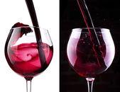 Splash červené víno, bílé pozadí
