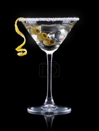 Photo for Cocktail martini on a black party background - Royalty Free Image