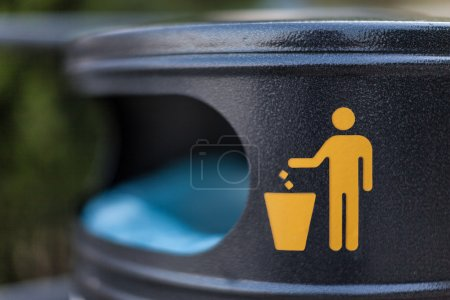 Photo for A symbol on a city trash bin in a croatian city - Royalty Free Image