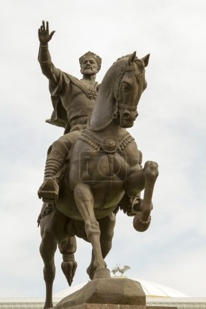 Tamerlane monument in the main square of Tashkent...
