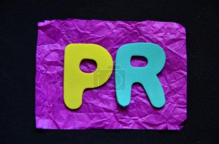Photo pour MOT PR SUR UN CONTEXTE ABRÉGÉ - image libre de droit