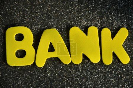 Photo pour Banque de mot sur un fond abstrait - image libre de droit
