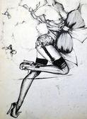 Sexy Girl Fashion Illustration