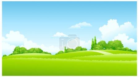 Illustration for Green Landscape - Royalty Free Image