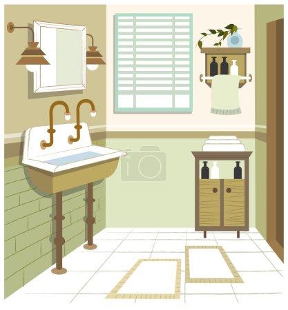 Illustration pour Salle de bain intérieure - image libre de droit