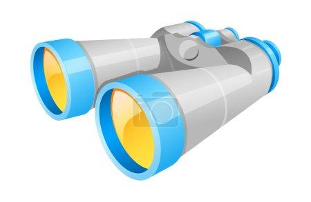Illustration for Vector icon binoculars - Royalty Free Image