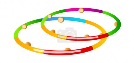Vector icon hula hoop