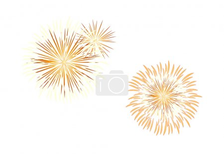 Vector icon fire works...