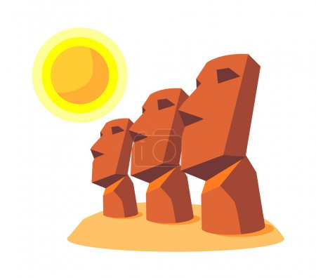 Illustration for Vector icon moai - Royalty Free Image