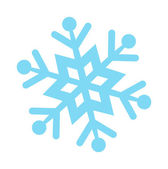 Vector blue snowflake on a white background