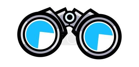 Illustration for Binoculars Vector Illustration - Royalty Free Image