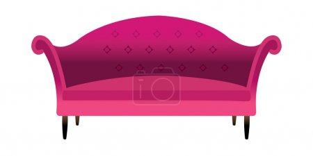 Red sofa.