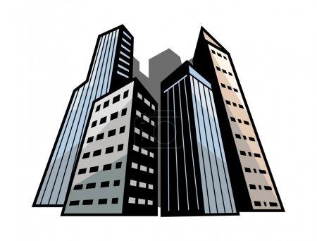 Photo pour Immeuble. Illustration vectorielle . - image libre de droit