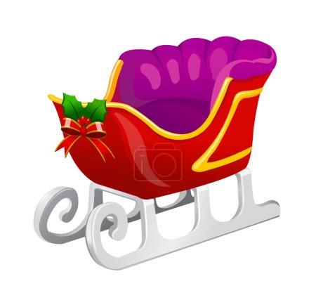 Christmas sleigh of santa claus.